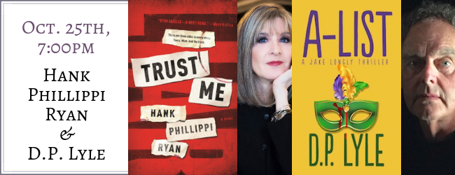 Hank Phillippi Ryan & D.P. Lyle