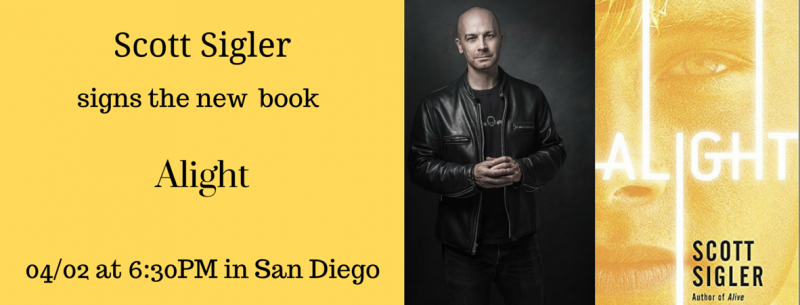 Scott Sigler signs in San Diego | Mysterious Galaxy Bookstore