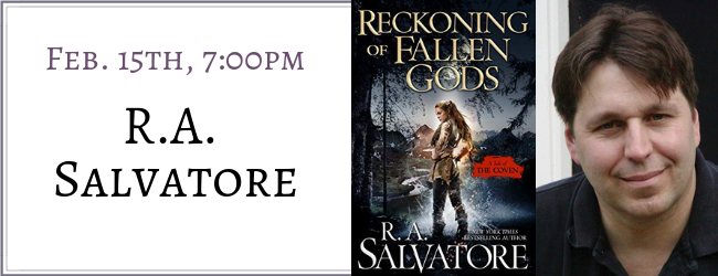R A  Salvatore signs Reckoning of Fallen Gods | Mysterious